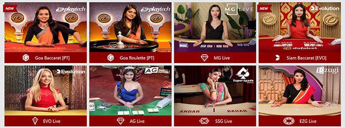 Dafabet Live Dealer Games